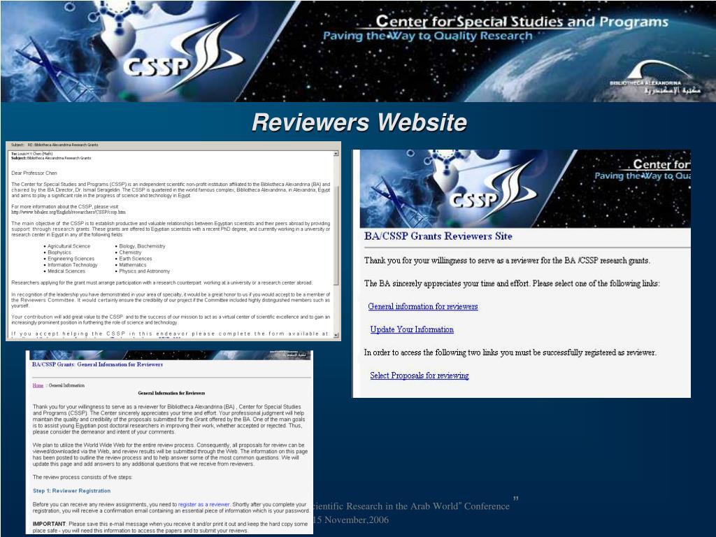 Reviewers Website