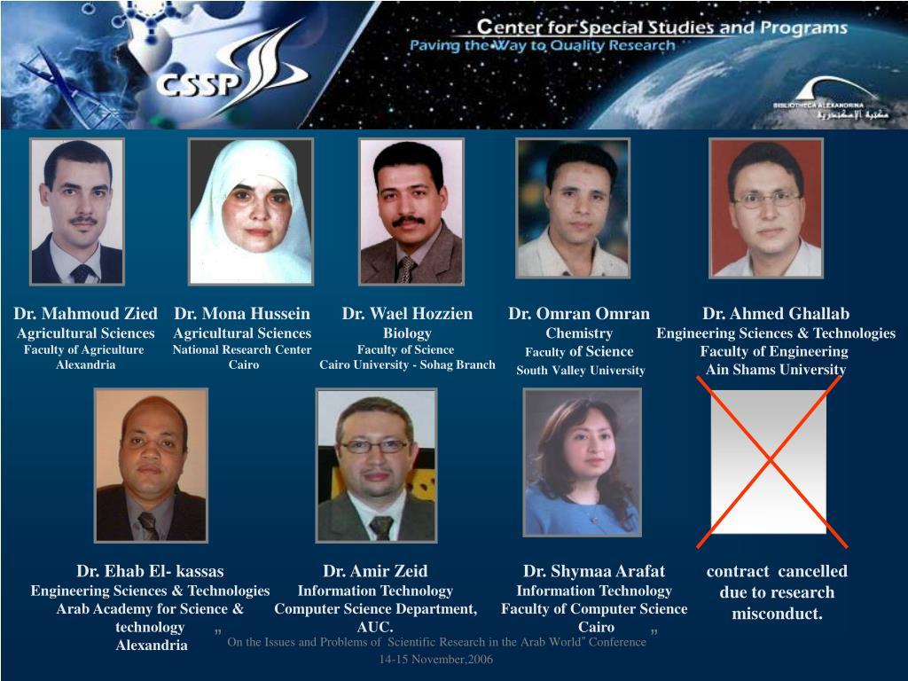 Dr. Mahmoud Zied