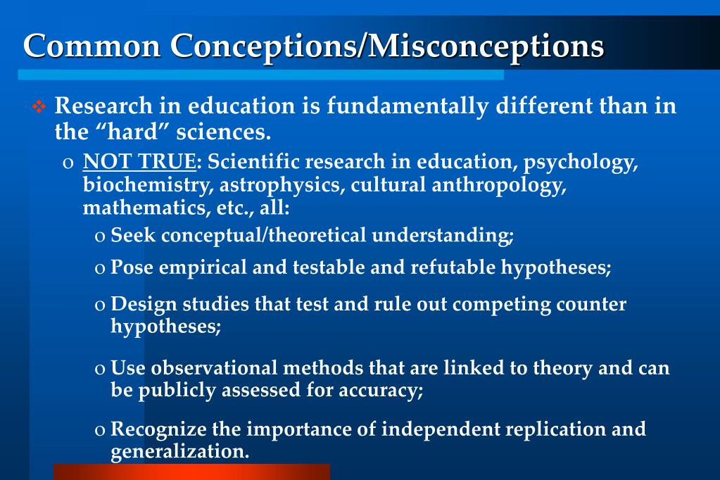 Common Conceptions/Misconceptions