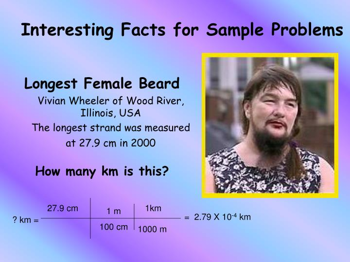 Interesting Facts for Sample Problems