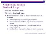 negative and positive feedback loops