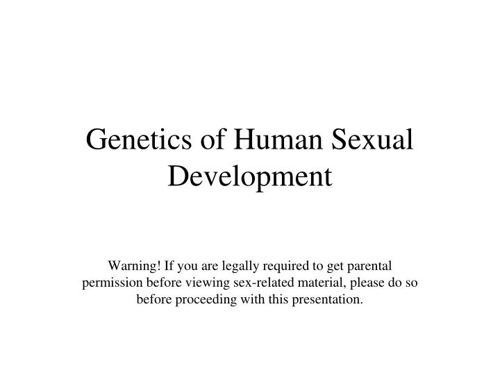 Genetics of human sexual development l.jpg