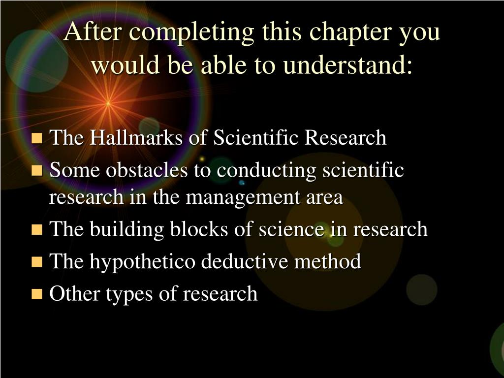 After completing this chapter you would be able to understand:
