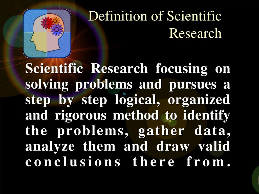 Definition of Scientific Research