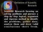 definition of scientific research