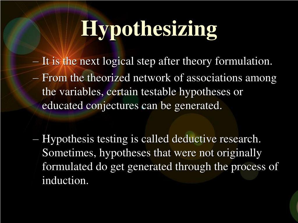 Hypothesizing