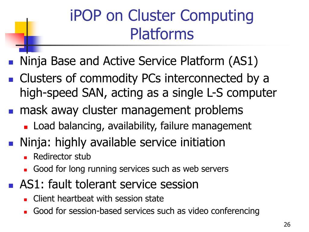 iPOP on Cluster Computing