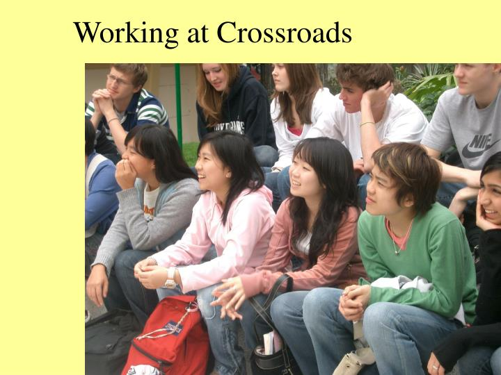 Working at crossroads l.jpg