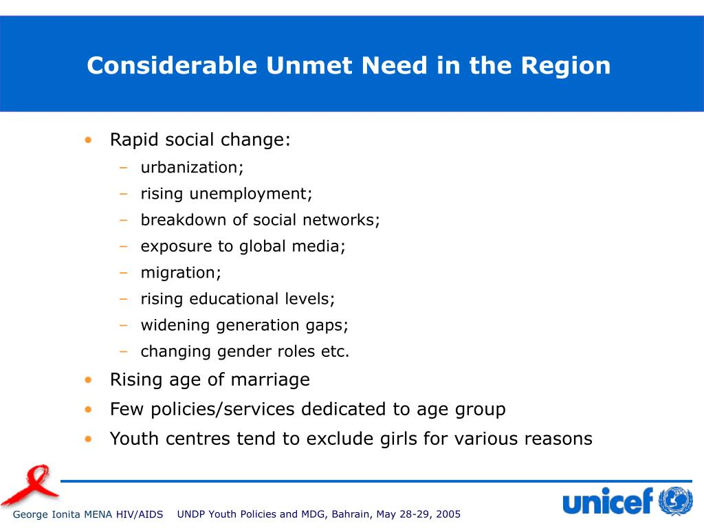 Considerable Unmet Need in the Region