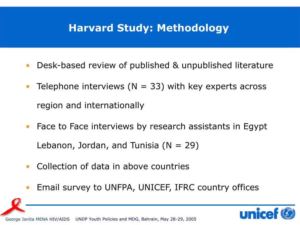 Harvard Study: Methodology