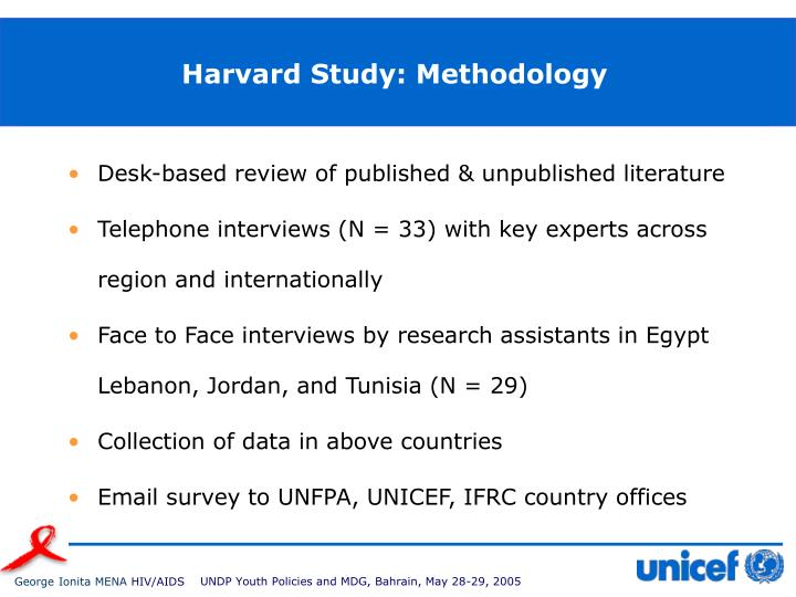 Harvard study methodology