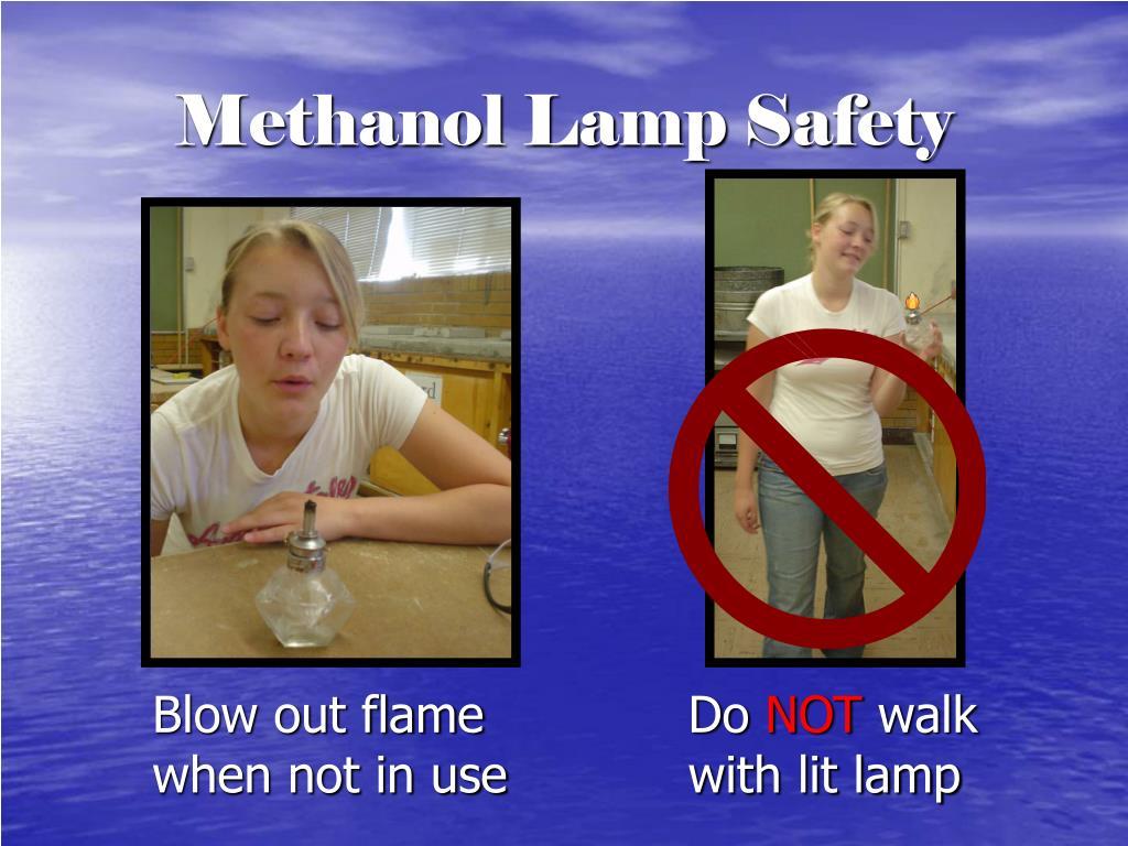 Methanol Lamp Safety