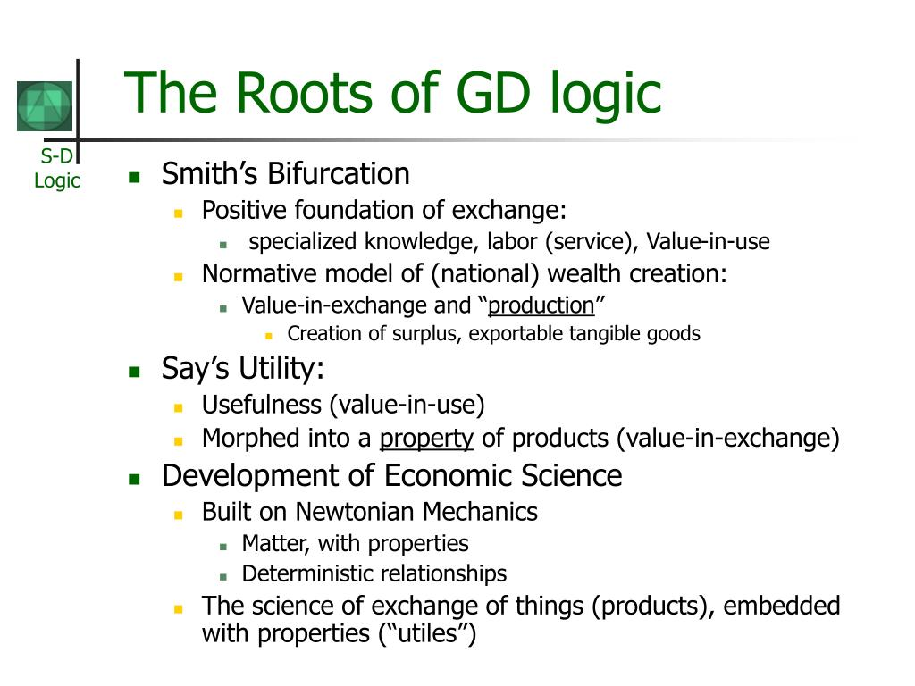 The Roots of GD logic