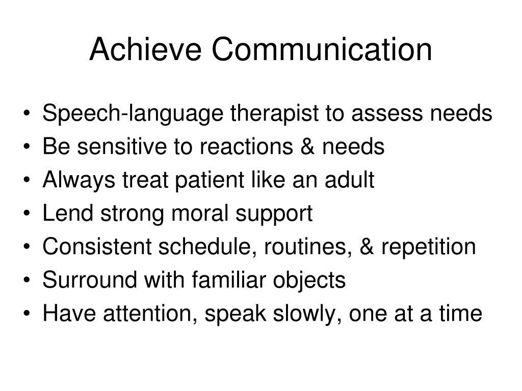 Achieve Communication