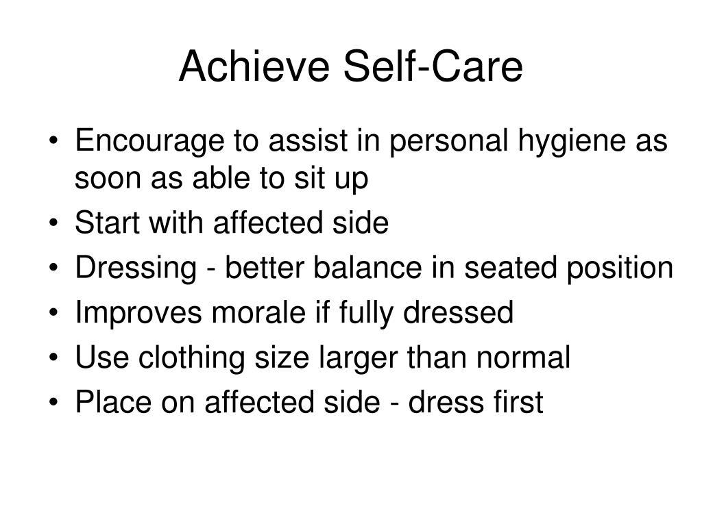 Achieve Self-Care
