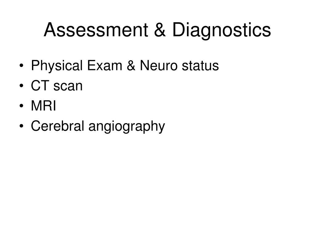 Assessment & Diagnostics