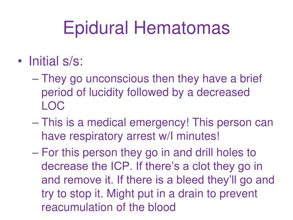 Epidural Hematomas