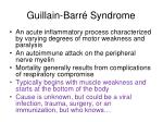 guillain barr syndrome