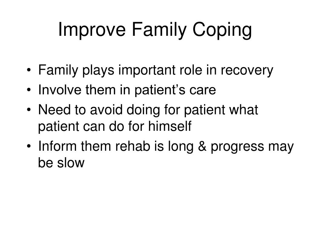 Improve Family Coping