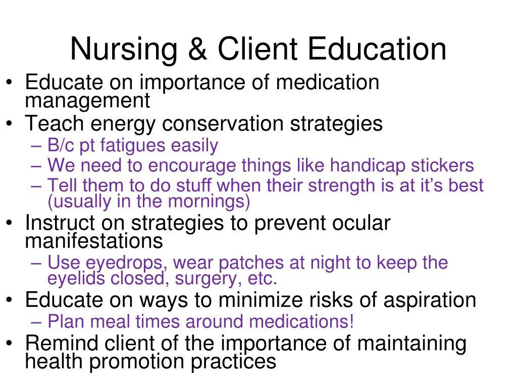 Nursing & Client Education