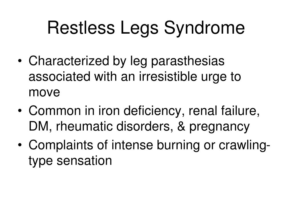 Restless Legs Syndrome