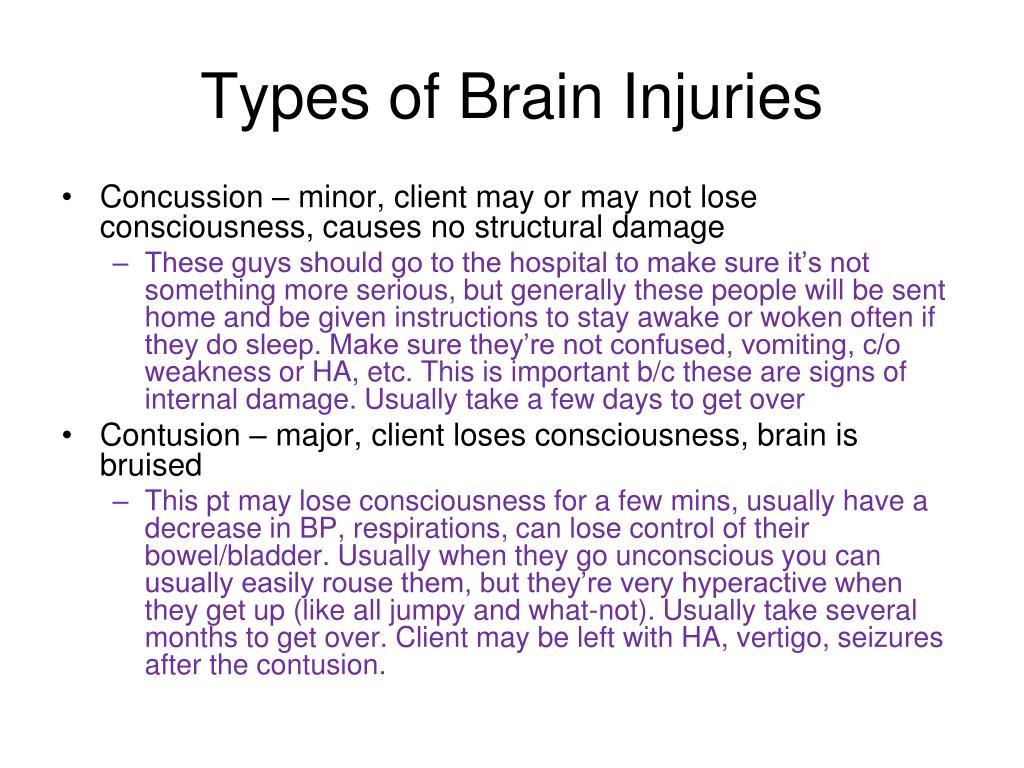 Types of Brain Injuries