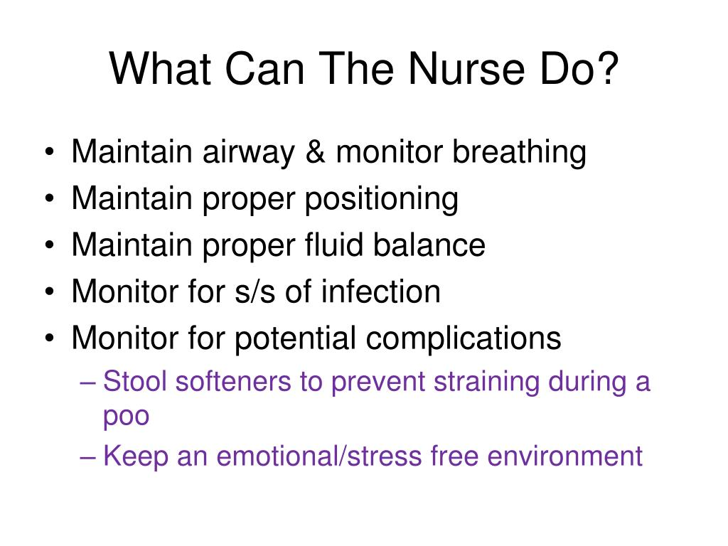What Can The Nurse Do?
