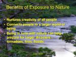 benefits of exposure to nature6