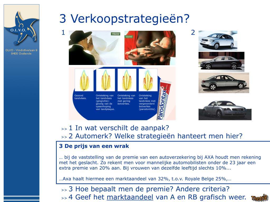 3 Verkoopstrategieën?
