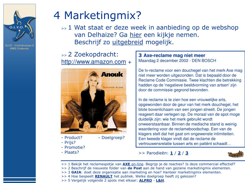 4 Marketingmix?