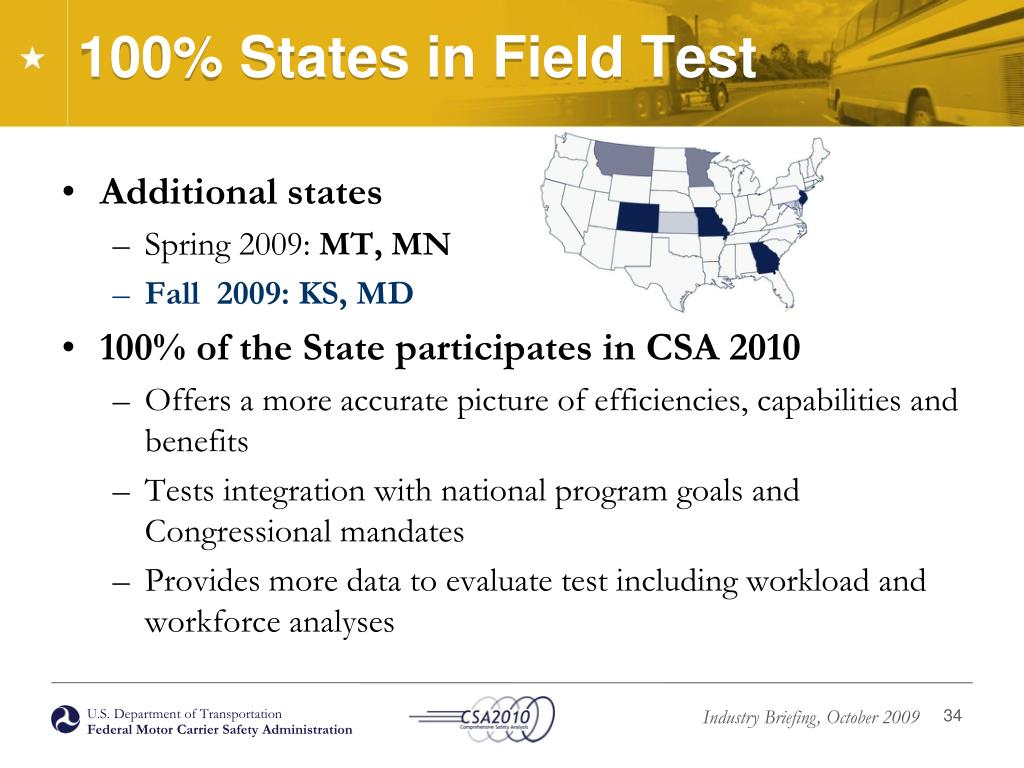 100% States in Field Test