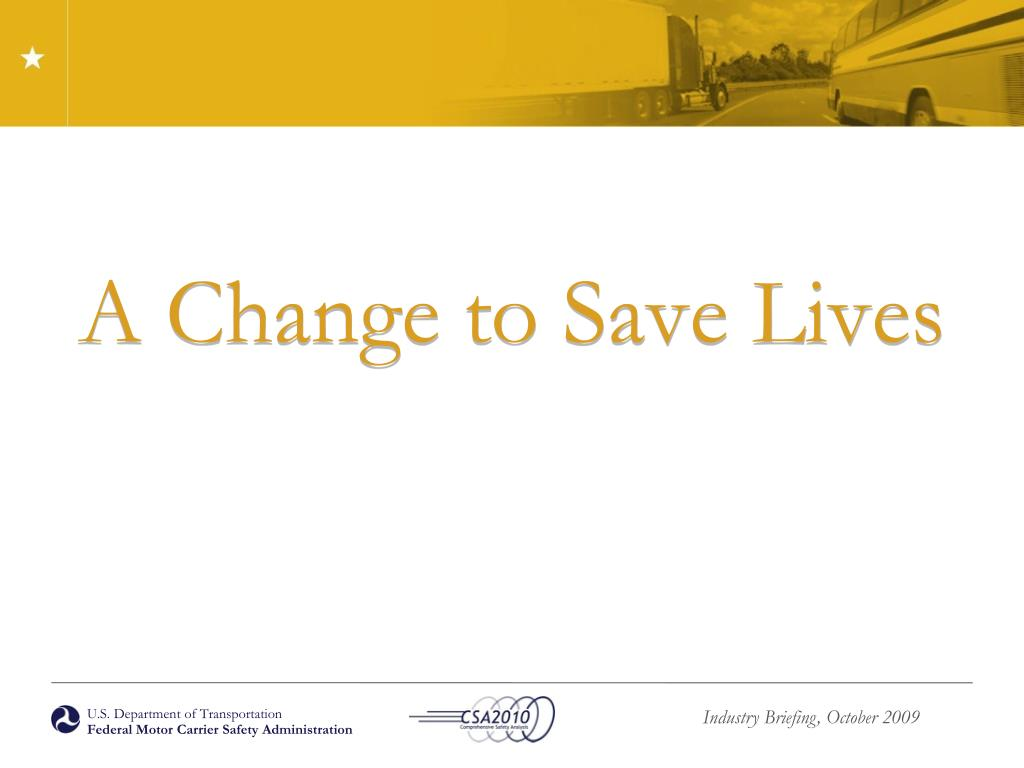 A Change to Save Lives