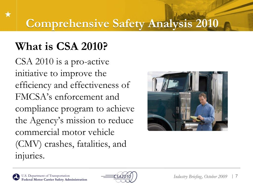 Comprehensive Safety Analysis 2010