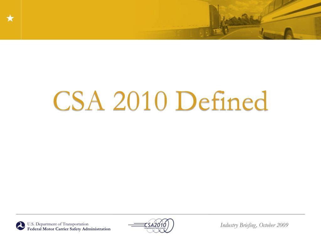 CSA 2010
