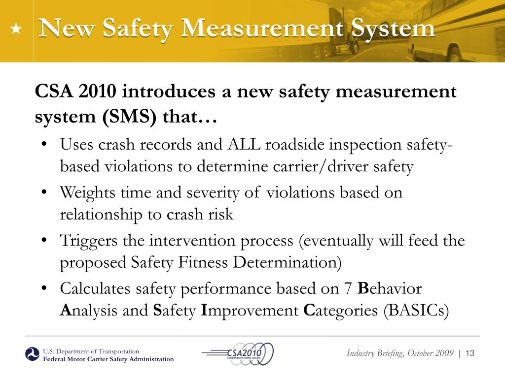 New Safety Measurement System