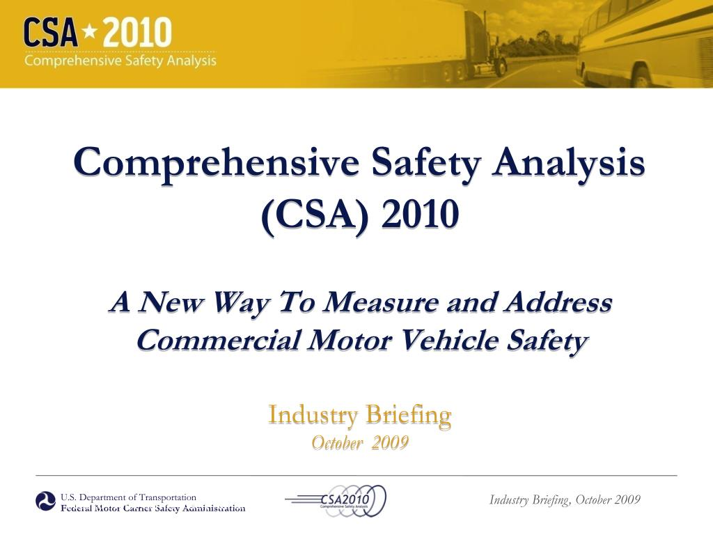 Comprehensive Safety Analysis