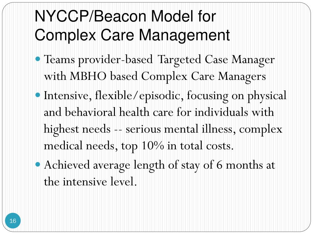 NYCCP/Beacon Model for