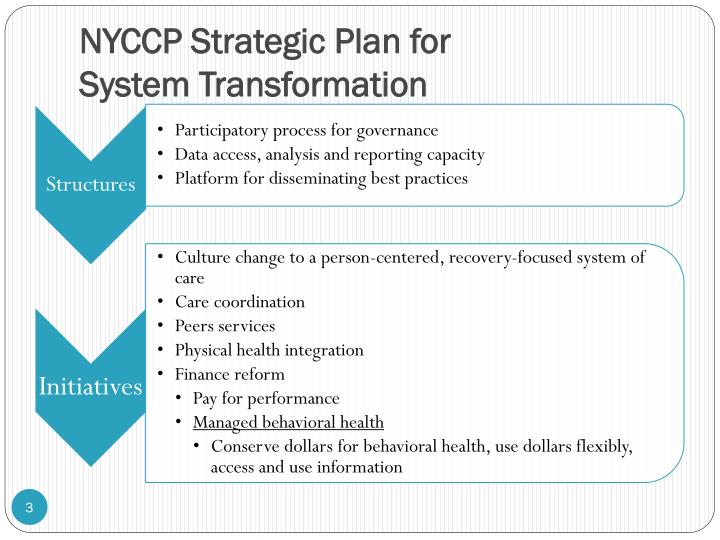 Nyccp strategic plan for system transformation