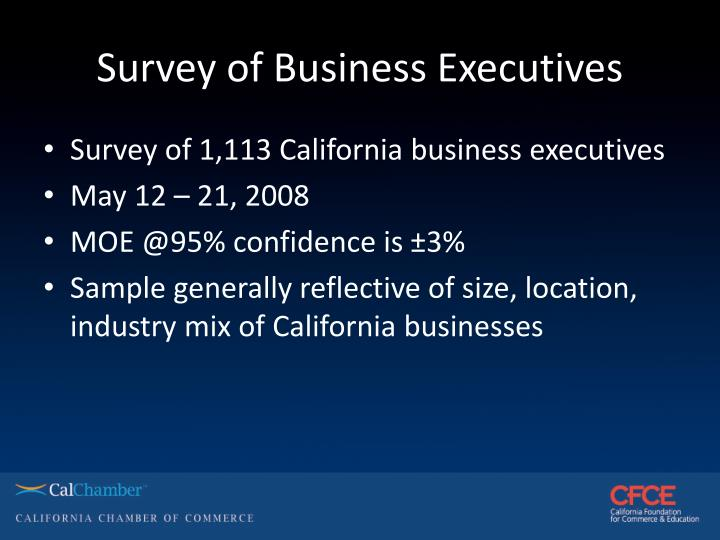 Survey of business executives