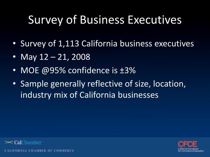 Survey of Business Executives