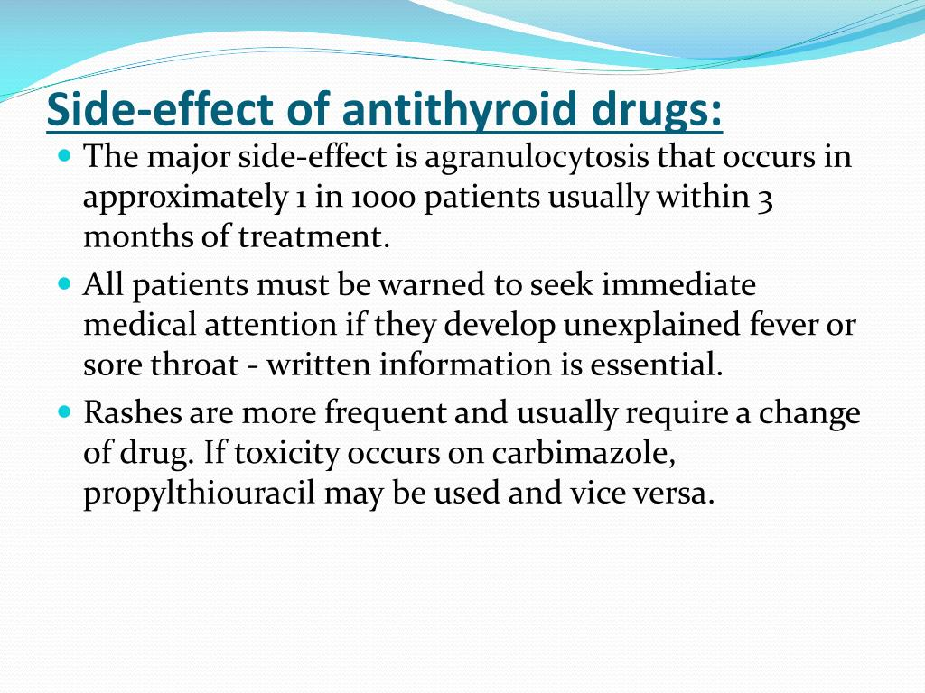 Side-effect of antithyroid drugs: