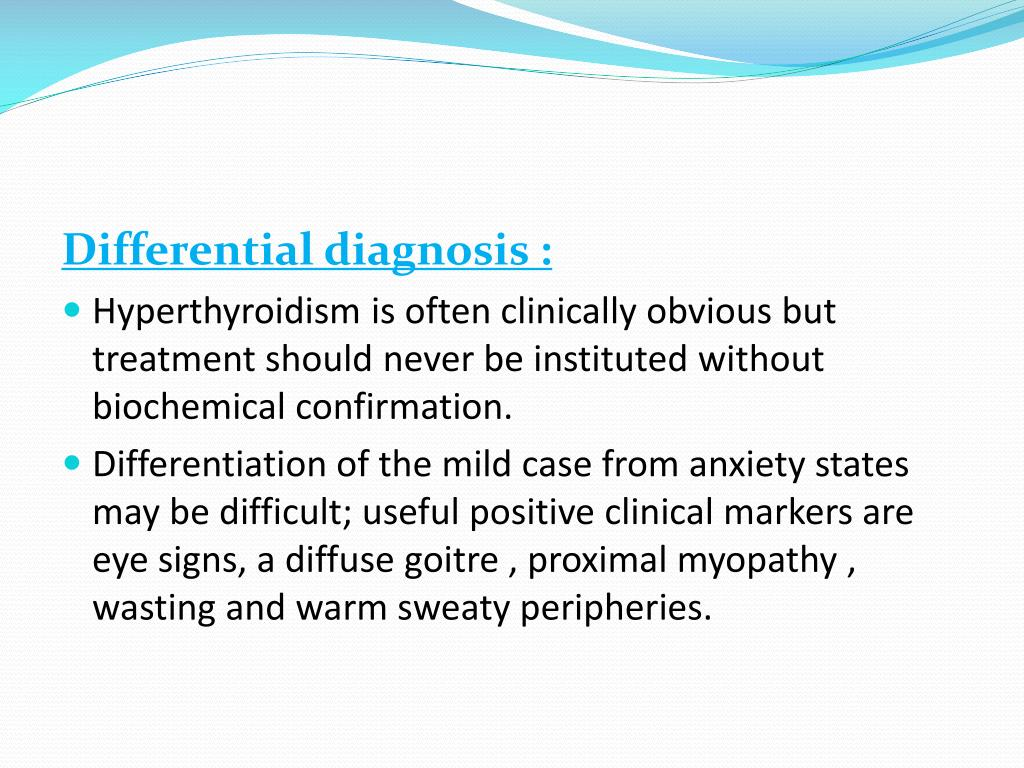 Differential diagnosis :