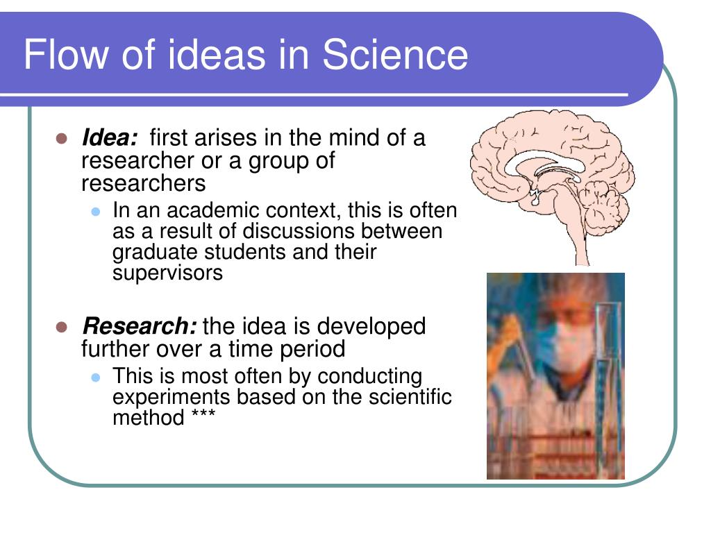 Flow of ideas in Science