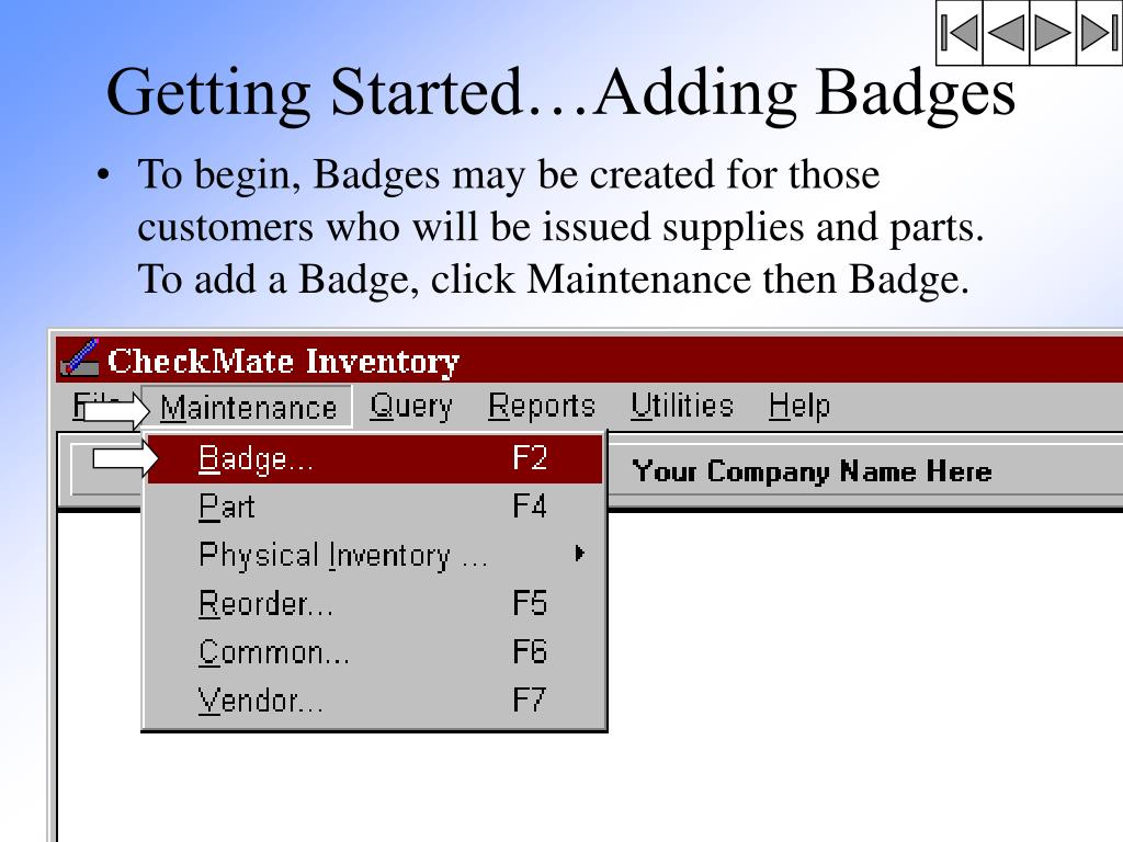 Getting Started…Adding Badges