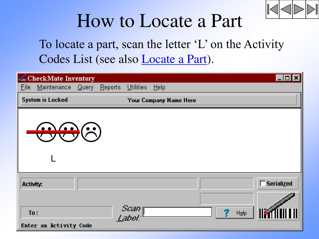 How to Locate a Part