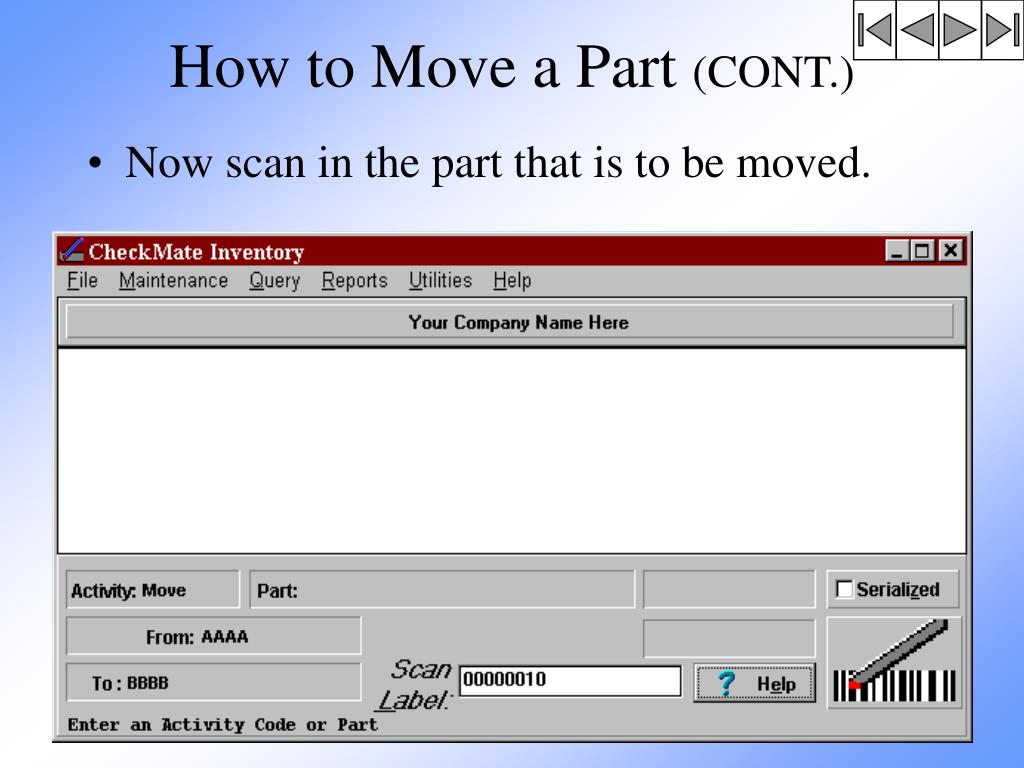 How to Move a Part