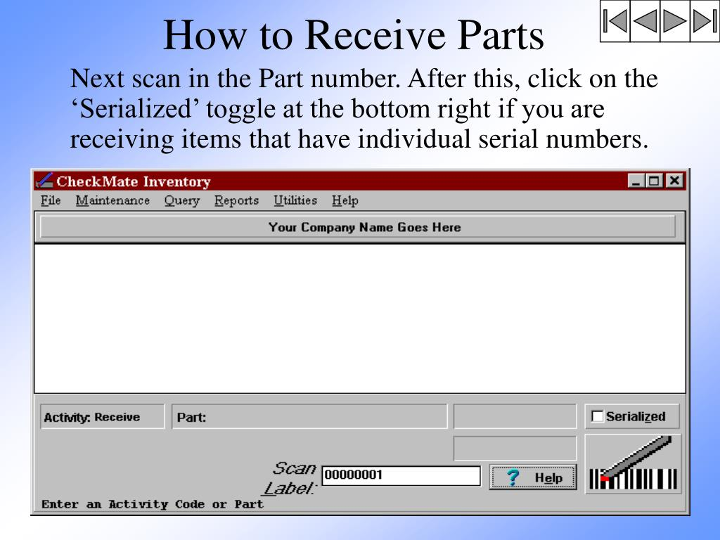 How to Receive Parts