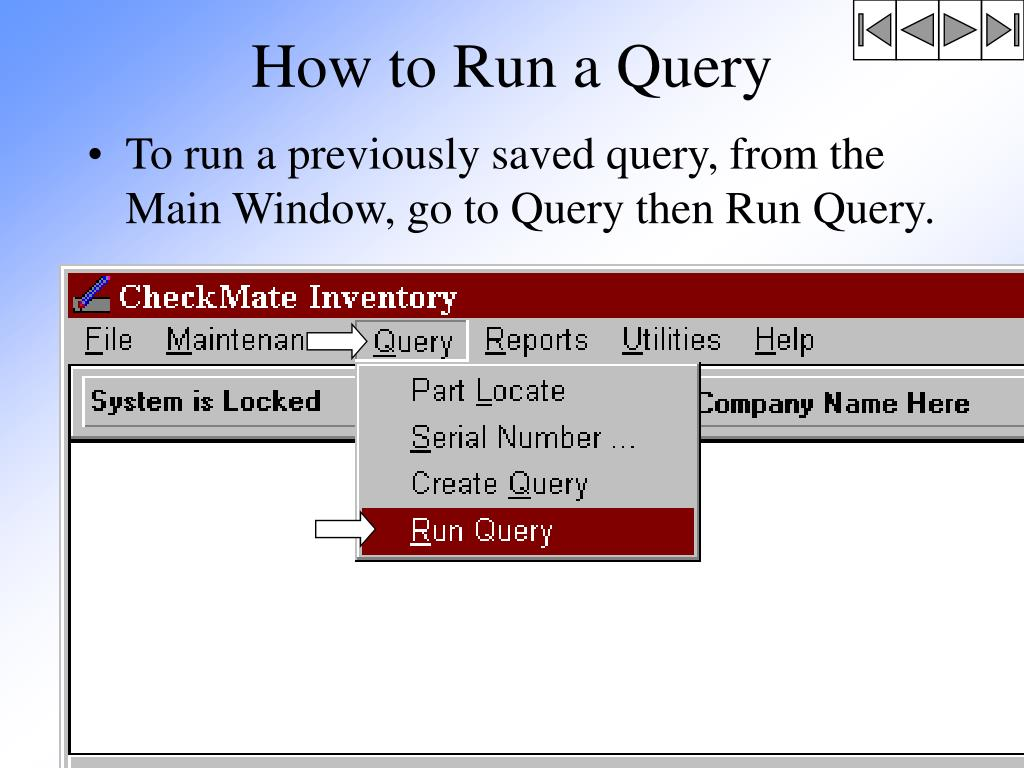 How to Run a Query