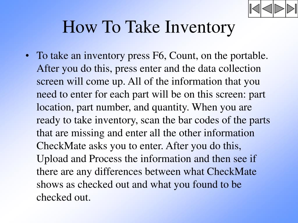How To Take Inventory