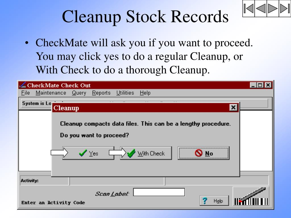 Cleanup Stock Records